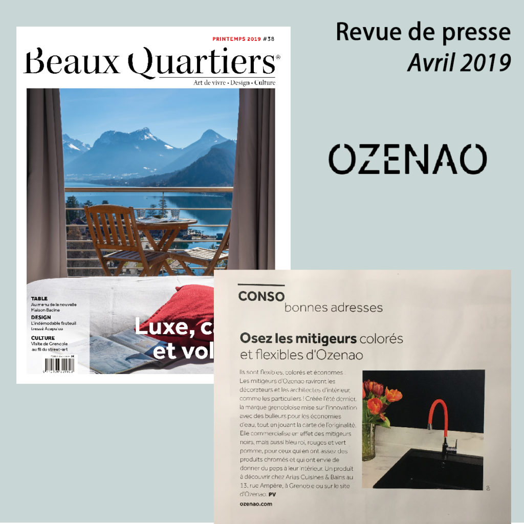 Article Magazine Beaux Quartiers avril 2019