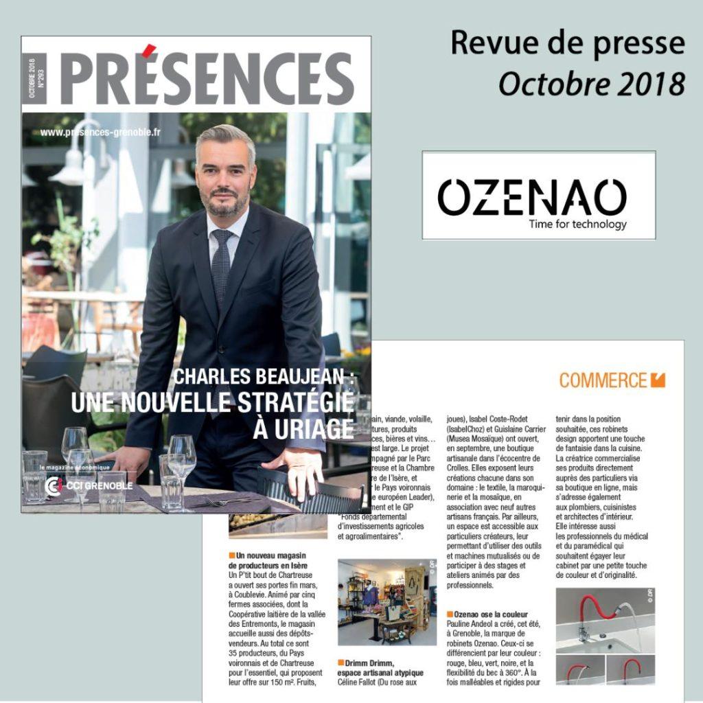 Article Magazine Présences octobre 2018